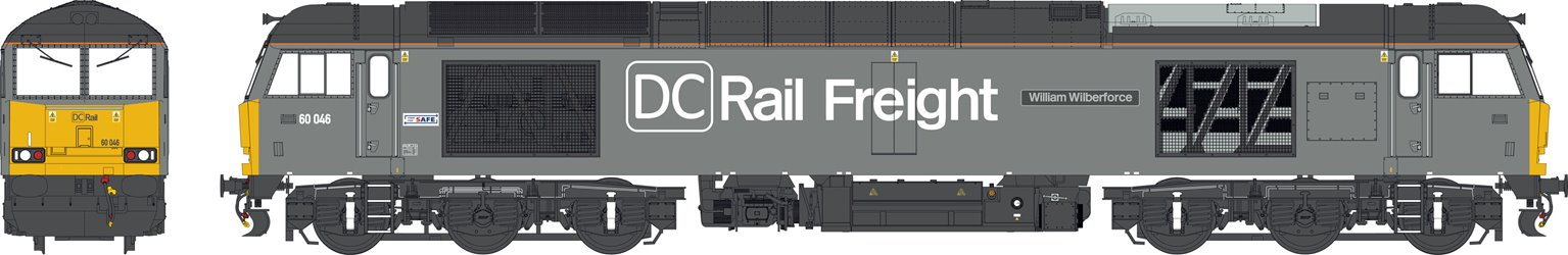 Class 60 046 'William Wilberforce' DC Rail Freight