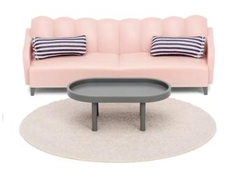 Lundby Doll's House Basic Living Room Furniture Set