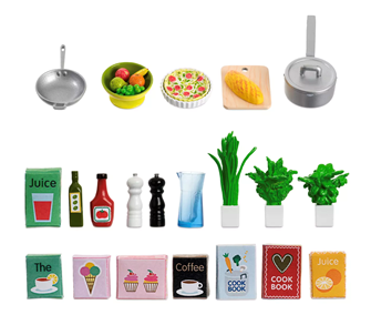 Lundby Doll's House Kitchen Accessories