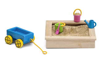 Lundby Doll's House Sandbox and Toy Set