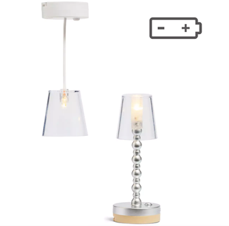 Lundby Doll's House Floor and Ceiling Lamp Light Set