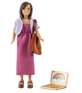 Lundby Doll's House Mother with Laptop and bag