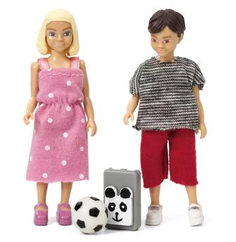 Lundby Doll's House School Boy and Girl Set