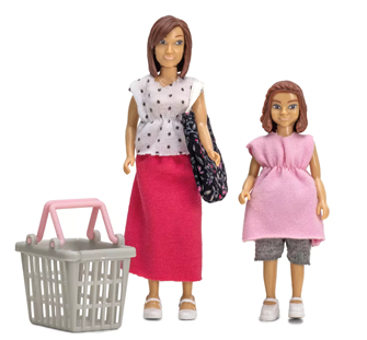 Lundby Doll's House Woman and Girl Shopping Set
