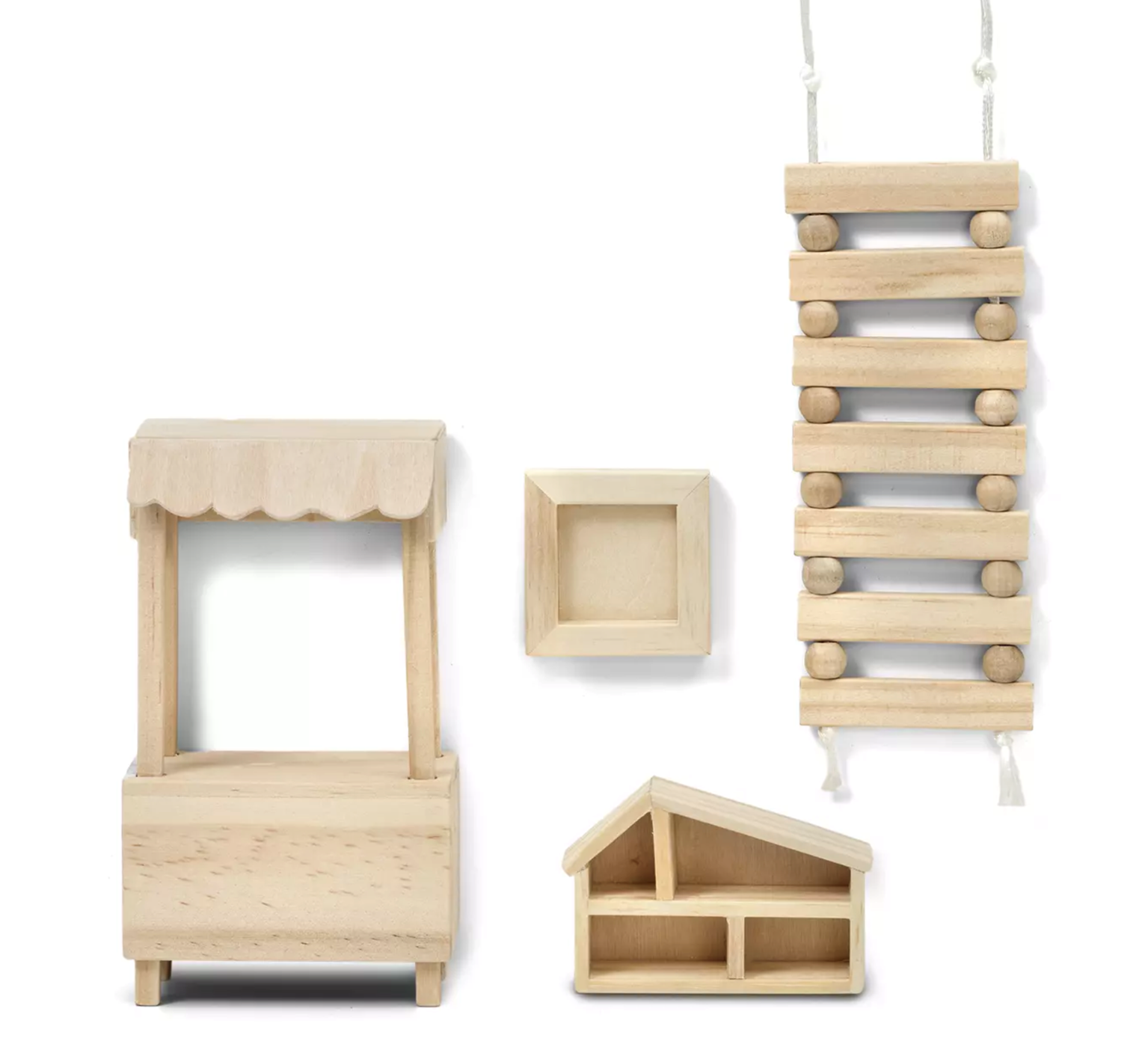 Lundby Doll's House Accessories Play Set (Natural Wood)