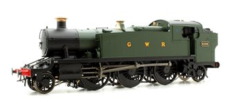 Class 61xx 'Large Prairie' 2-6-2T 6106 in GWR green with GWR lettering