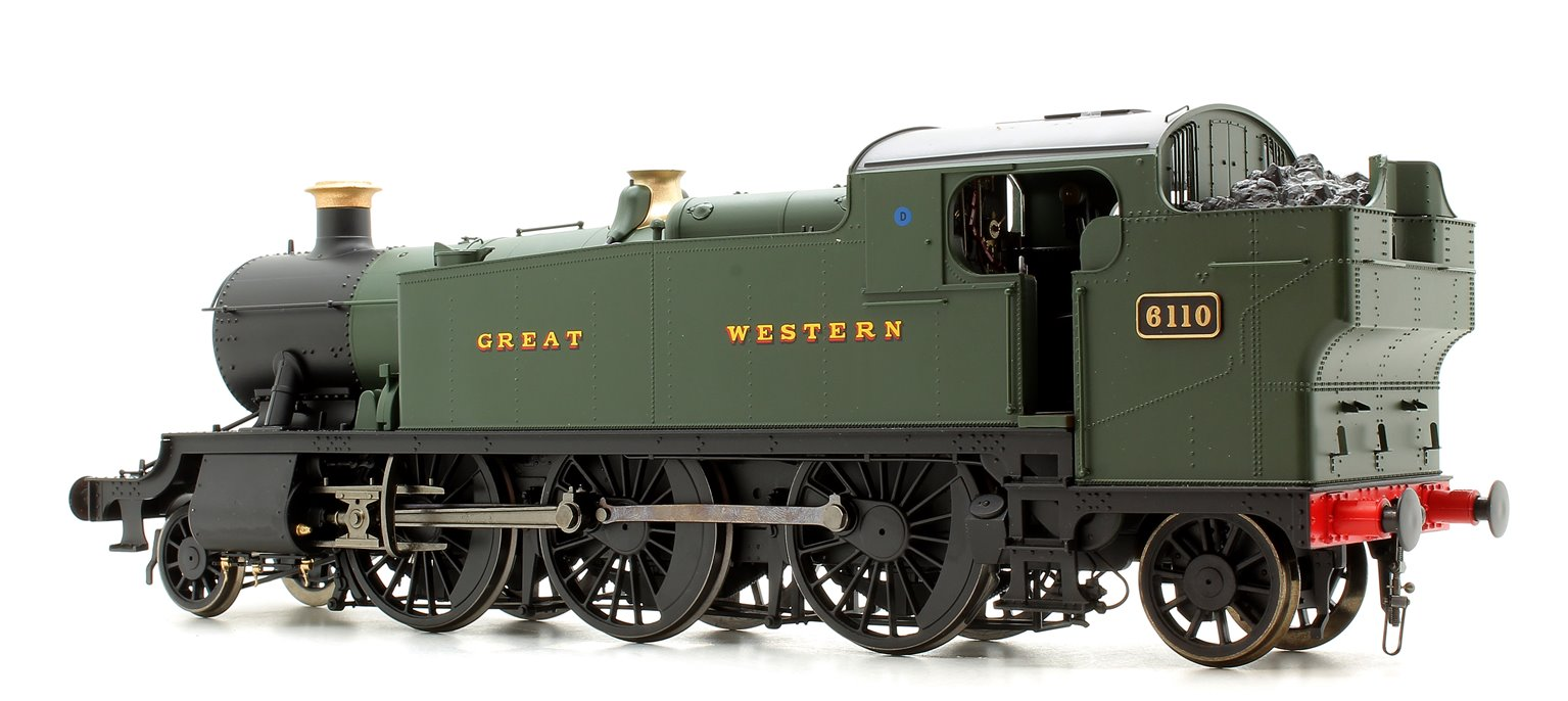 Class 61xx 'Large Prairie' 2-6-2T 6110 in GWR green with Great Western lettering
