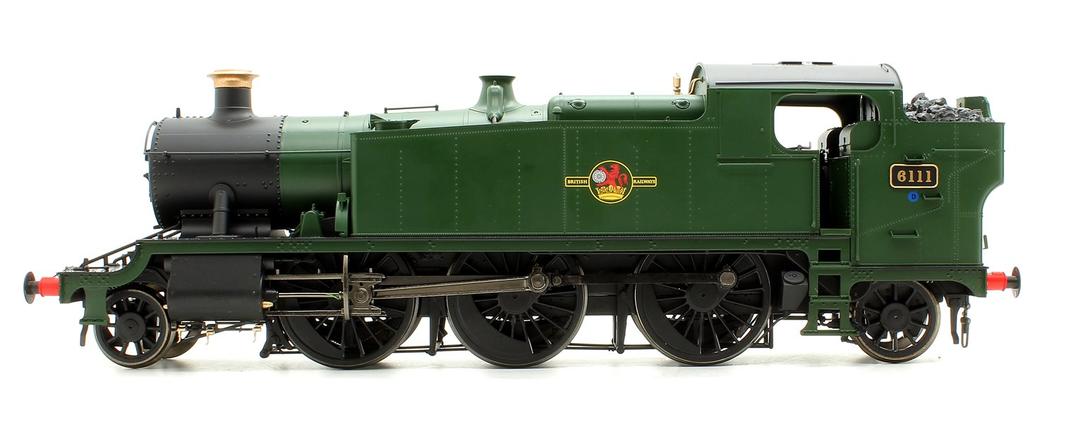 Class 61xx 'Large Prairie' 2-6-2T 6111 in BR unlined green with late crest