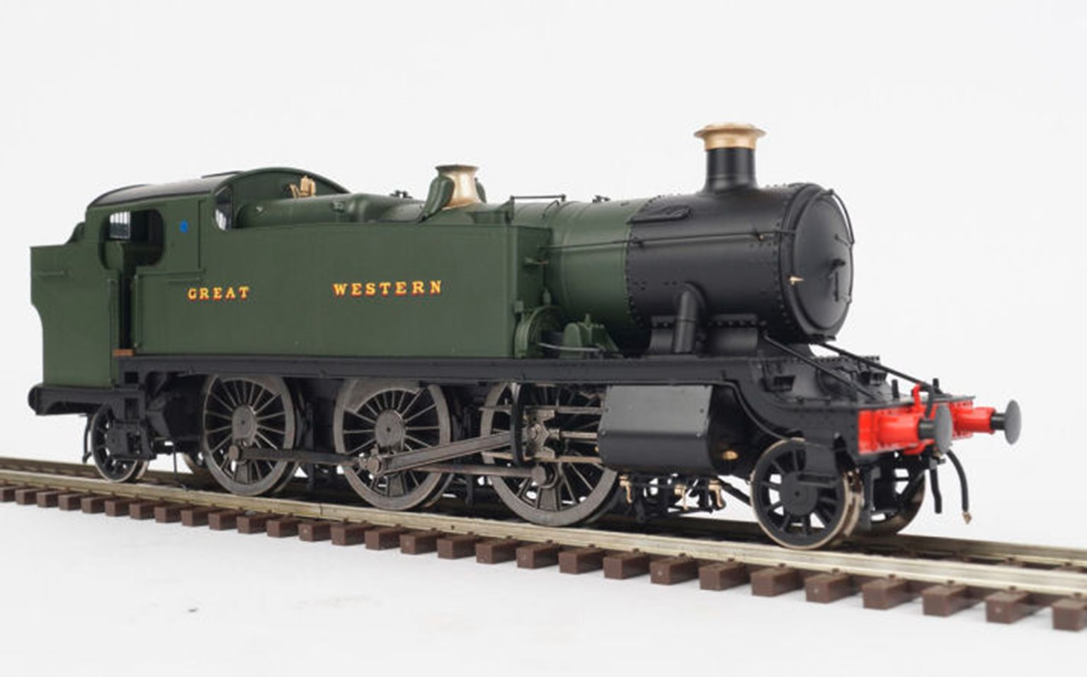 """Class 61xx Large Prairie Great Western Livery lettered """"Great Western"""" un-numbered 2-6-2 Tank Locomotive"""