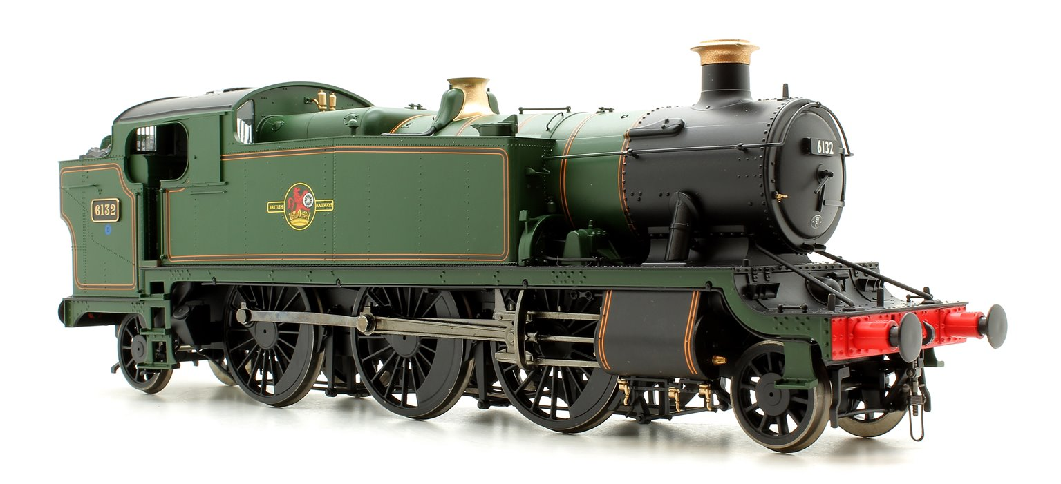 Class 61xx 'Large Prairie' 2-6-2T 6132 in BR lined green with late crest