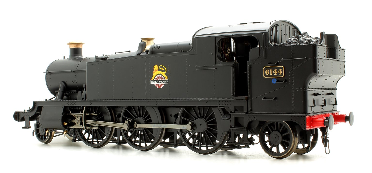 Class 61xx 'Large Prairie' 2-6-2T 6144 in BR lined black with early emblem