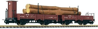 Liliput HOe L240100 Twin Pivot Open Wagon Set with Timber Load RSE Ep.III