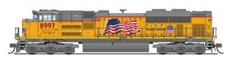 """EMD SD70ACe, UP #8997, """"Building America"""", Paragon3 Sound/DC/DCC"""