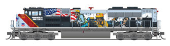 """EMD SD70ACe, UP #1111, """"Powered By Our People"""", Paragon3 Sound/DC/DCC"""