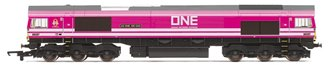 "Class 66 587 ""AS ONE, WE CAN"" Freightliner/ONE Pink Livery Diesel Locomotive"