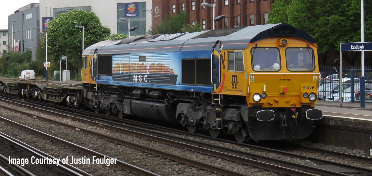 Class 66 709 GBRF Sorrento MSC Livery Diesel Locomotive DCC Fitted