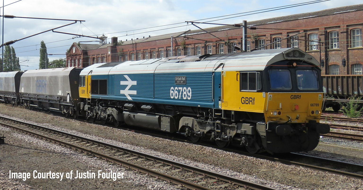 Class 66 789 GBRF 'British Rail 1948-1997' BR Blue Large Logo Diesel Locomotive DCC Fitted