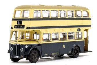 Birmingham City Transport (BCT) Blue/Cream with Khaki Roof Guy Arab IV with Metro-Cammell body - Fleet No.3062 - 11 Outer Circle - Licence No. MOF 62 (Gold Numbers)