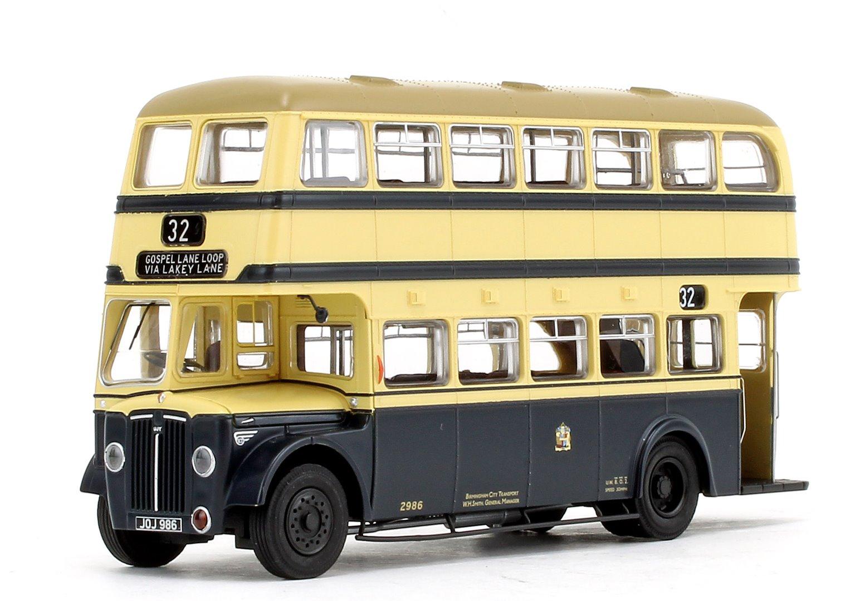 Birmingham City Transport (BCT) Blue/Cream with Khaki Roof Guy Arab IV with Metro-Cammell body - Fleet No.2986 - 32 Gospel Lane Loop Via Lakey Lane - Licence No. JOJ 986 (Gold Numbers)