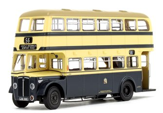 Deluxe Edition Birmingham City Transport (BCT) Blue/Cream with Khaki Roof Guy Arab IV with Metro-Cammell body - Fleet No.3000 - 56 Castle Bromwich (Newport Road) - Licence No. LOG 300 (Black Numbers)