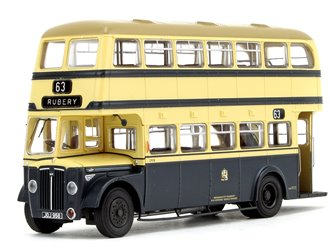 Deluxe Edition Birmingham City Transport (BCT) Blue/Cream with Khaki Roof Guy Arab IV with Metro-Cammell body - Fleet No.2958 - 63 Rubery - Licence No. JOJ 958 (Black Numbers)