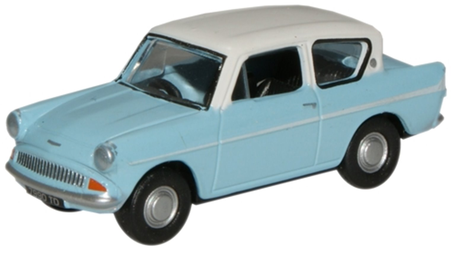 Lt.Blue Ermine White Ford Anglia