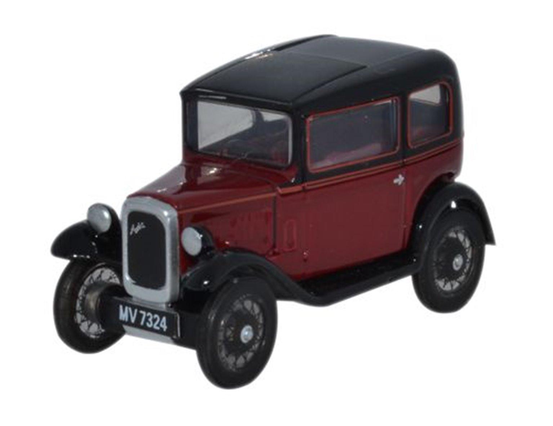 Oxford Diecast 76ASS003 Austin Seven RN Saloon Maroon