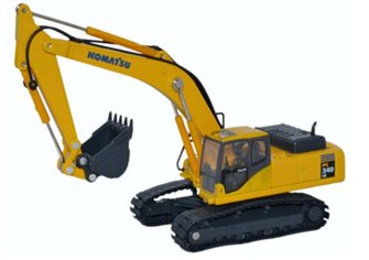 Komatsu PC340 with standard (fully poseable) boom