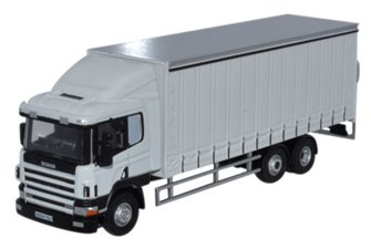 Scania 94 6 Wheel Curtainside Lorry White