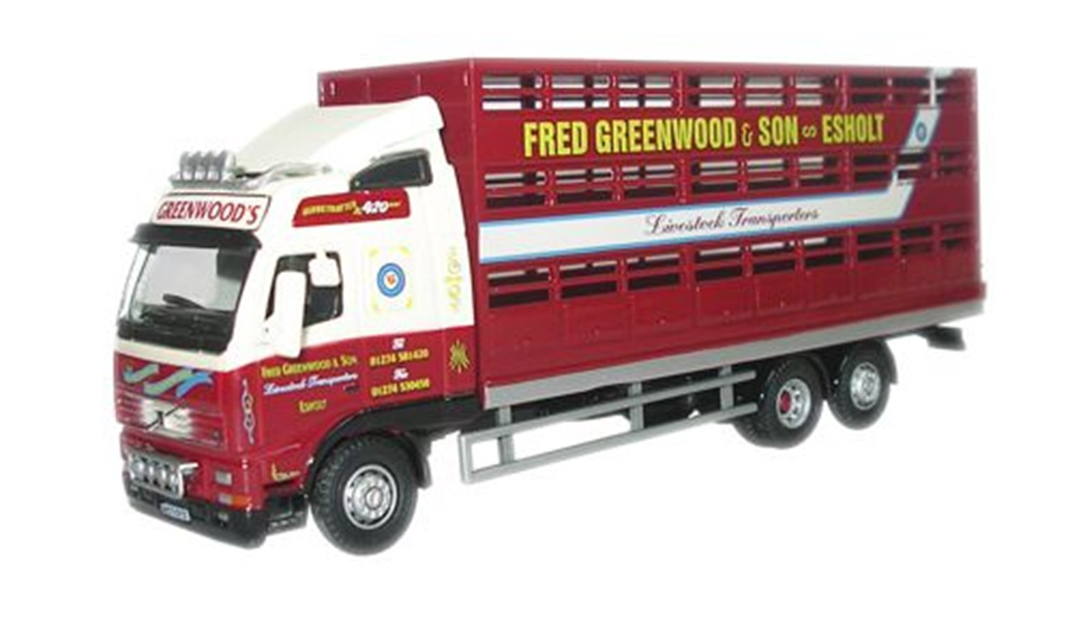 Fred Greenwood Volvo FH Livestock Lorry