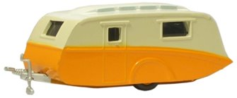 Orange and Cream Caravan