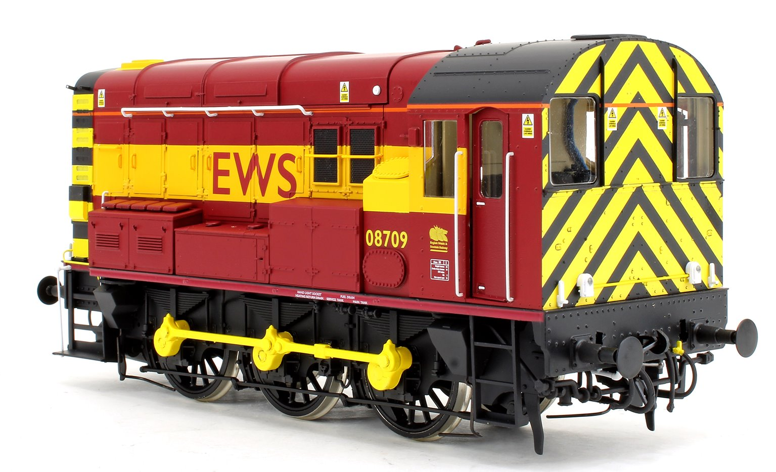 Class 08 709 EWS Livery Diesel Shunter Locomotive - DCC Fitted Sound