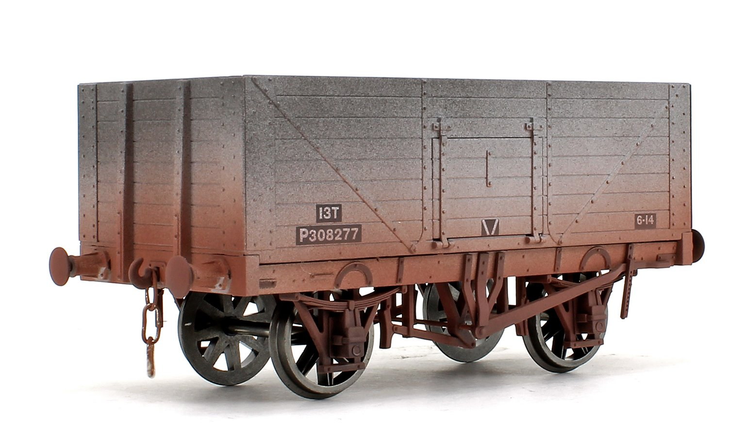 8 Plank Open Wagon BR Grey No.P308277 (Weathered Finish)