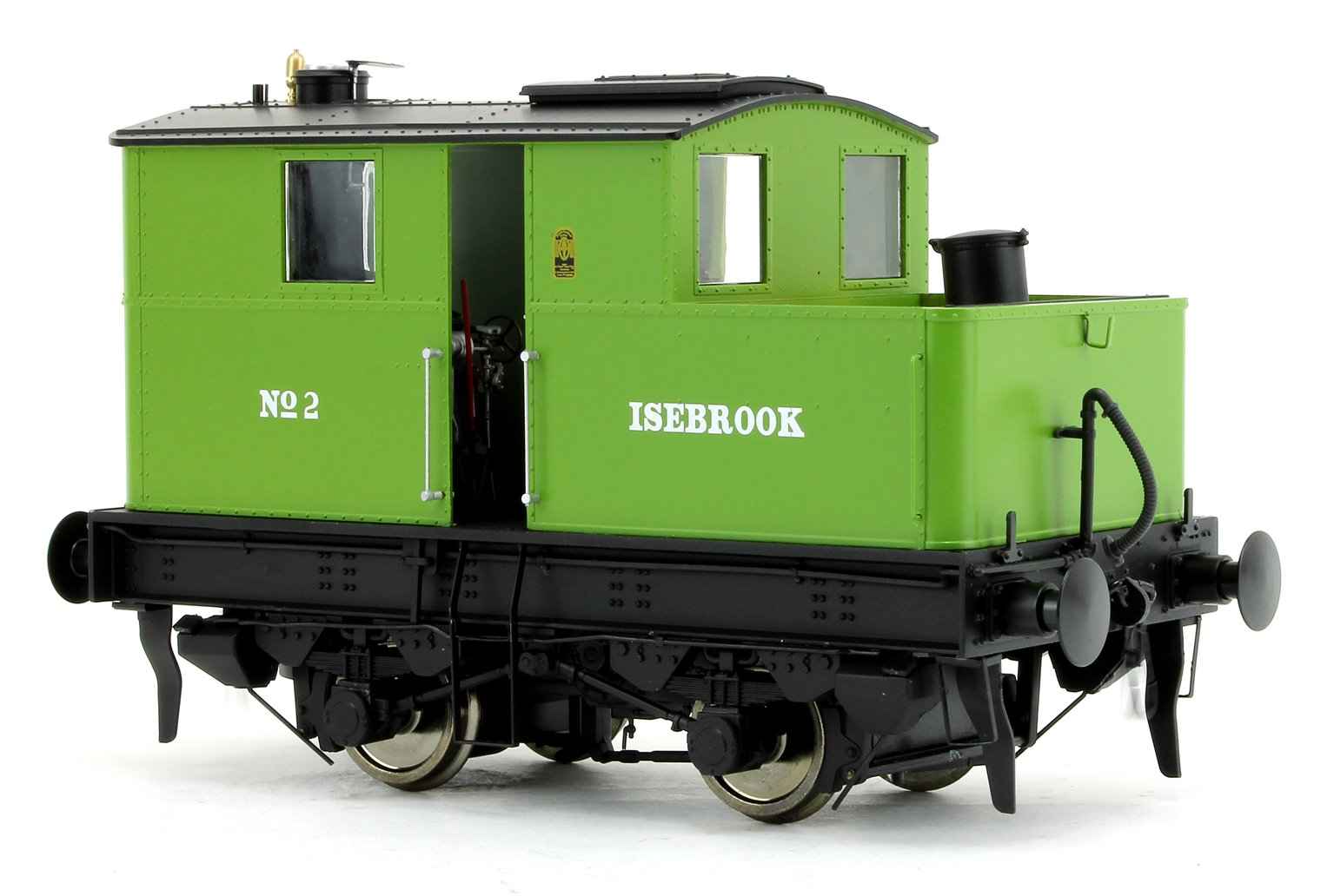 "Sentinel 4wVB 2 ""Isebrook"" in GWR Green - DCC Fitted"