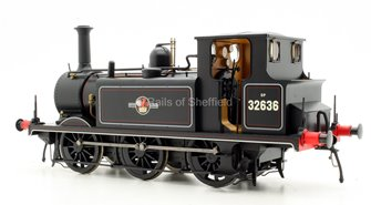 Terrier A1X 32636 BR Lined Black Late Crest. DCC Sound Fitted