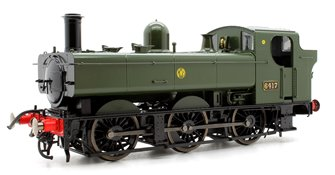 Class 64xx 0-6-0PT Pannier 6417 in Great Western green with shirtbutton emblem - DCC Sound