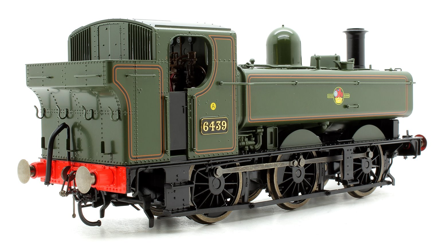 Class 64xx 0-6-0PT Pannier 6439 in BR lined green with late crest - DCC Fitted