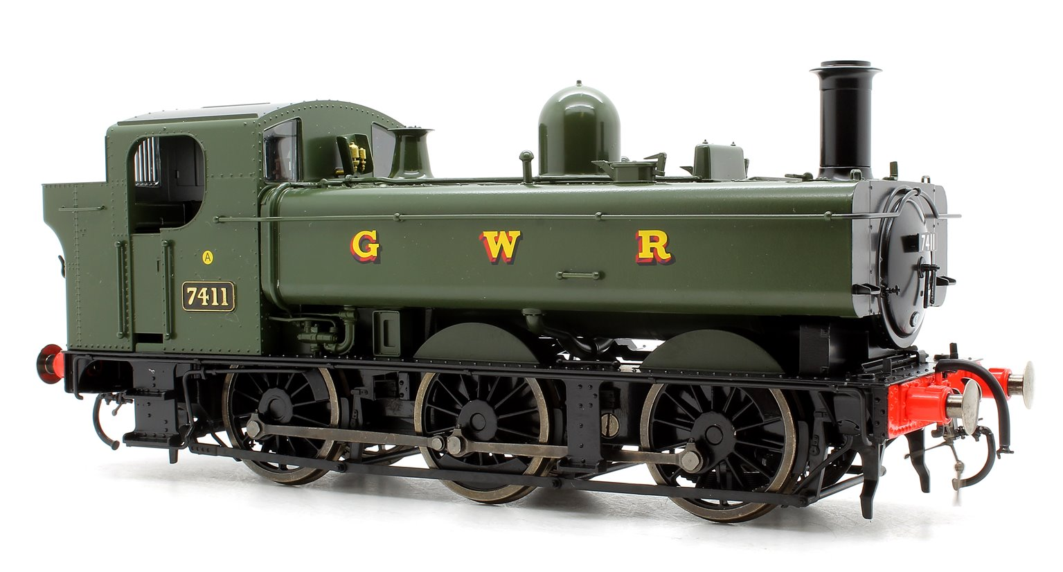 Class 74xx 0-6-0PT Pannier 7411 in GWR green - DCC Fitted