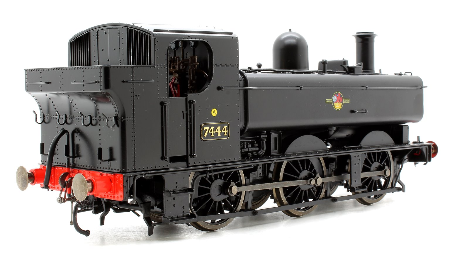 Class 74xx 0-6-0PT Pannier 7444 in BR black with late crest - DCC Sound