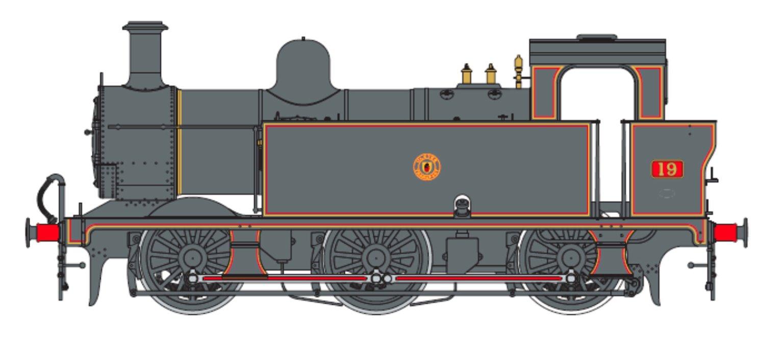 Class 3F Jinty NCC Black  0-6-0 Tank Locomotive No.19
