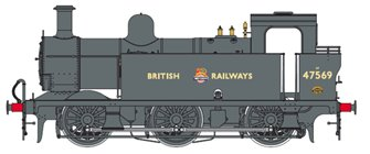 Class 3F Jinty British Railways Black (Early Crest) 0-6-0 Tank Locomotive No.47569 DCC Fitted