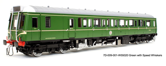 Class 121 W55020 Green with Speed whiskers - DCC Sound Fitted