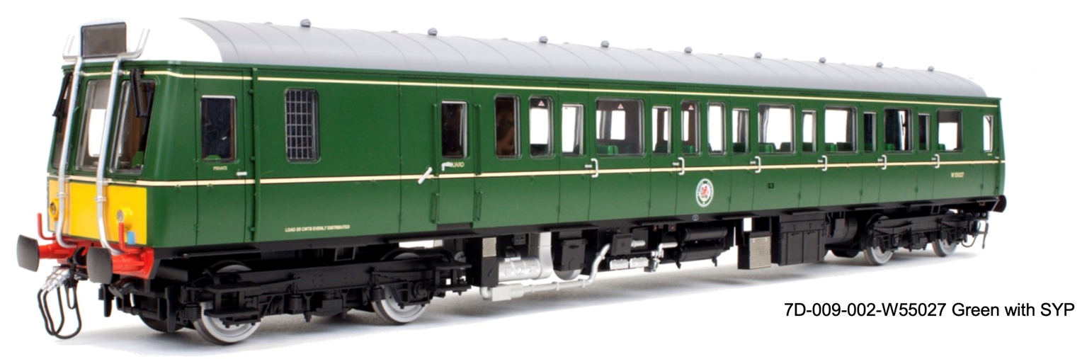 Class 121 W55027 Green with Small Yellow Panel	 - DCC Fitted