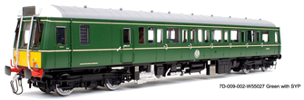 Class 121 W55027 Green with Small Yellow Panel	 - DCC Sound Fitted