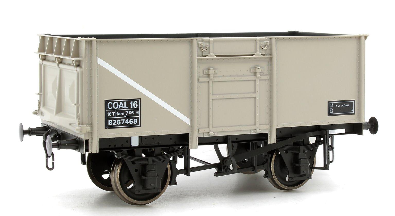 16T Steel Mineral Wagon Rivetted BR Grey B262468 Dg 1/109