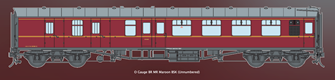 BR MR Maroon MK1 BSK Coach Unnumbered (DCC Fitted)