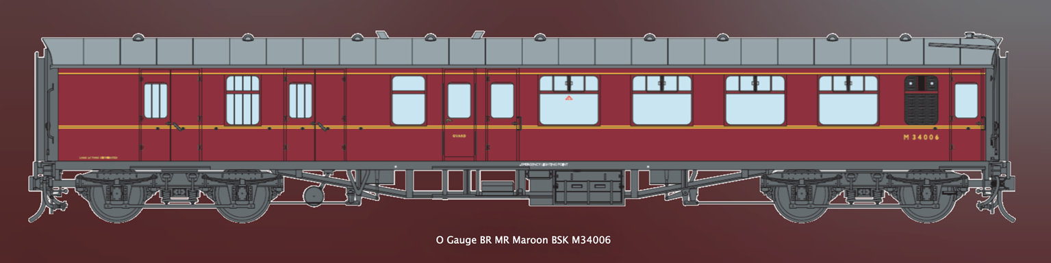 BR MR Maroon MK1 BSK Coach No.M34006 (DCC Fitted)