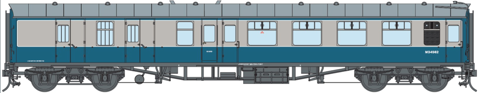 BR Blue/Grey BSK MK1 Coach M34562 (DCC Fitted