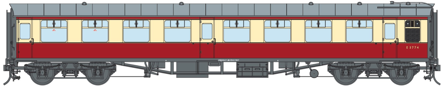 BR ER Crimson & Cream SO Coach No.E3774 (DCC Fitted)