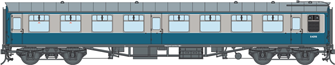 BR Blue/Grey SO MK1 Coach (Unnumbered) DCC Fitted